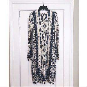 Tori Burch Long Sleeve Printed Dress